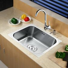 1.0 Single Square Bowl Laundry Stainless Steel Kitchen Sink Drainer& Kitchen Tap