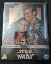 Star Wars Episode II Attack of The Clones Steelbook 4k Blu-ray