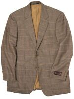 NWT Kroon Mens Sport Coat 40R 41R Brown Houndstooth Check Plaid Wool Jacket