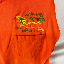 Anvil Fitzgerald's 2000 Sizzling Summer Keno Tournament Crew Neck 3XL Orange