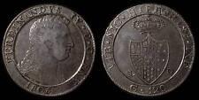 pci776) Napoli regno Ferdinando IV grana 120 piastra 1805 - UNCLEANED