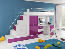 Doppelstockbett Etagenbett Jugendzimmer Bett Kleiderschrank Schrank Schreibtisch