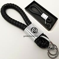 MG leather keyring key cover fob chain keychain badge logo gift for him her