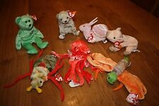 Genuine ty Beanie Baby - Wiggly the Squid   Great value collectable soft toy