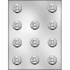 50 Number Age Year Mint Chocolate Candy Mold Anniversary Birthday