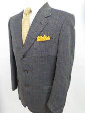 Canali Pure Wool Herringbone Windowpane Blazer Jacket Sport Coat 40 R EUC Italy