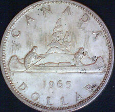 1965 Canadian Silver Dollar $1.00 Canada Coin #2 - FREE S/H !!