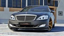 schwarze Spoilerlippe Frontspoiler Diffusor Mercedes S Klasse W221 AMG S63 65