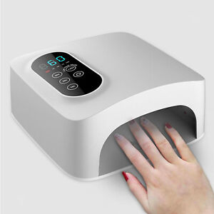 72W Cordless LED Portable Professional Nail Lamp for Machine Fingernail Home
