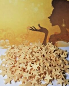 100 Princess Gold Sparkle Edible stars, cake topper cupcakes Sprinkles Glitter