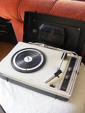 RARE 1960's PHILIPS 233 PORTABLE RECORD PLAYER TURNTABLE RETRO VINTAGE