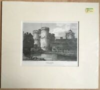 Antique Engraving West Gate Canterbury Mooted