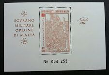Malta Sovereign Military Order Of Malta 1980 (miniature sheet MNH