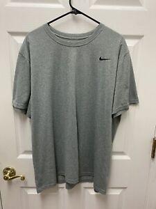 Nike T Shirt XXL Mens Grey Black Check Dri-fit 2XL
