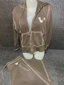 Authentic True Religion Tracksuit  Jacket And Pants Sz L Heavyweight