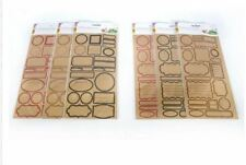 Craft Label Papers Stickers Gift Food Kraft Paper Packaging Decoration Assorted
