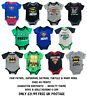 BABY BODYSUITS CHARACTER BOYS GIRLS EX STORE NOVELTY ROMPERS VESTS 0-9M NEW