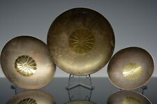 ANTIQUE JAPANESE EXPORT SILVER GOLD STACKING DISHES