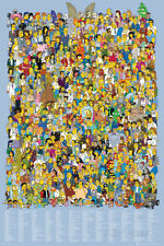 Simpsons-Cast Names Poster Print, 24x36