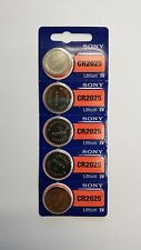 5 NEW CR2025 CR2025A 2025 SONY BATTERY - Expiration Year: 2026 TM