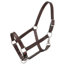 Draft Horse Halter - Brown Leather