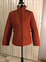 Womens New Giacca Quilted Cinnamon Jacket Size Large