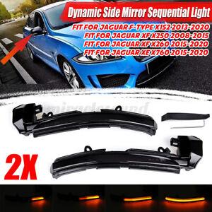 For Jaguar XE XF XJ F-TYPE XK X250 X260 LED Dynamic Side Mirror Indicator Light
