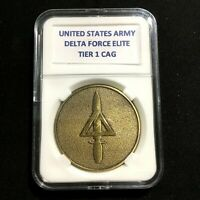 UNITED STATES ARMY DELTA FORCE ELITE TIER 1 CAG Bronze Tn Challenge Coin A-1