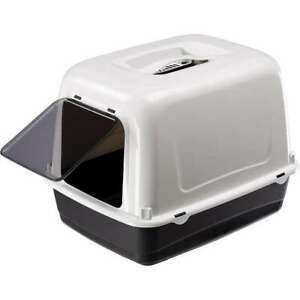 Heritage Black & White Sumo Cat Toilet Hooded Loo Litter Tray Cats Pan & Filter