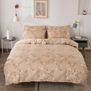 Flower Style Bedding Sets 3Pcs1 Duvet Cover +2 Pillowcases Queen King Single