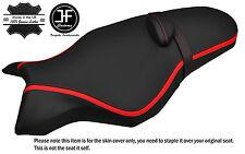 Raya roja de vinilo de agarre y carbono Personalizado Se Ajusta Yamaha Mt 10 1000 16-17 Funda De Asiento