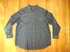 Boulder Creek Black Denim Long Sleeve Cowboy Casual Work Shirt Size 2XLT New