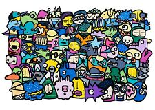 Kev Munday - vibrant colourful street art print poster A2 signed ltd ed. new