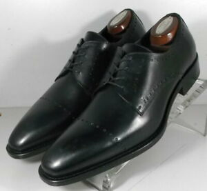 242941 SPi60 Men's Shoes Size 9 M Black Leather Made in Italy Johnston & Murphy