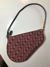 Christian Dior рысак винтаж седельная сумка красный отличное состояние