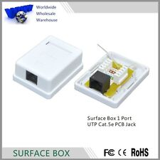 FREE SHIPMENT RJ45 Cat5e Surface Wall Mount Ethernet Jack 1 Port 8P8C - 100% New