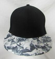 Mens Snapback Wolf Print Visor Baseball Cap Hat E1 650