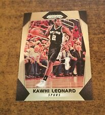 2017-18 Panini Prizm Kawhi Leonard Base Card #293 Spurs Raptors Clippers MVP