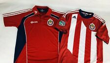 a6a7894e8 Lot Of 2 MLS Chivas USA Adidas 2010 -2011 Player Issue Home Soccer Jersey  Size