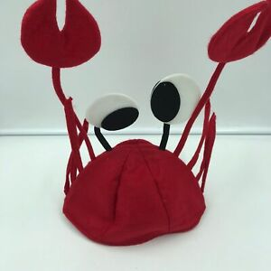 Red Crab Lobster Costume Fun Hat Cap Crayfish Novelty