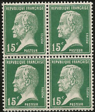 1923 LOUIS PASTEUR CENTENARY FROM BIRTH MINT BLOCK 4 FRANCE SCIENCE MICROBIOLOGY