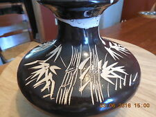 Brown Decorated Art Pottery Vase ...FIGURAL ARTIST Signed