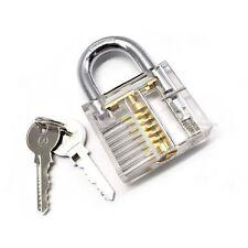 BIG transparent padlock training unlock lockpicking lockpick crochetage cadenas