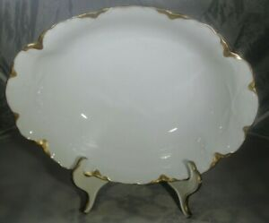 Hutschenreuther Blenheim Selb Bavaria White/Gold Oval Serving Bowl
