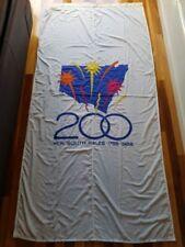 RARE AUSTRALIAN BICENTENNIAL 200 YEARS OF NSW 1788-1988 COTTON FLAG 2.7M X 1.3 M