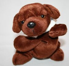 "Bean Bag PUPPY DOG Lying 8"" Chocolate Brown LAB Soft Plush Deramaxx Deracoxib"