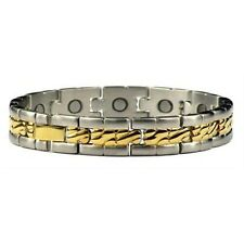 Collective - Titanium Magnetic Bracelet Gold Plated and Silver Plated