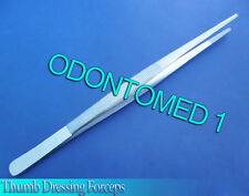 """THUMB DRESSING FORCEPS 10"""" SERRATED TWEEZERS SURGICAL  Instruments"""