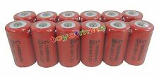 12 x C size 1.2V 10000mAh Ni-MH Red Color Rechargeable Battery USA