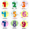 144 Numbers 30 mm Reward Stickers for Maths School Teachers, Parents, Nursery